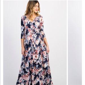 Pink Blush maternity/Nursing Wrap Dress